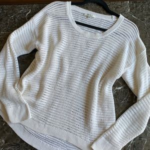 Madewell Large Cream White Sweater Pullover